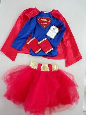 Pottery Barn Kids Supergirl Super Girl w/ Tutu Hero Costume Size: 3T #7161