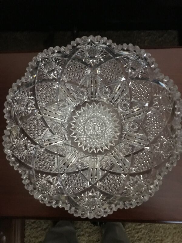 Pairpoint Myrtle Brilliant Period Cut Glass Bowl. NEW Lower Price