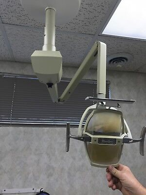 Pelton Crane Ceiling Mount Dental Light- Good Working Condition- Used