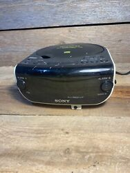 SONY Dream Machine CD Player ICF-CD815 FM/AM Radio CD-R/RW Dual Alarm Clock