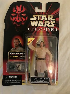"Star Wars 3.75"" Figure The Phantom Menace Qui Gon Jinn Jedi Master"