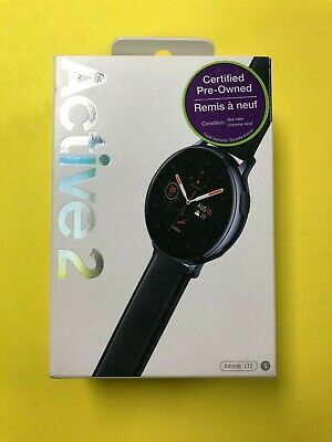 Samsung Galaxy Watch Active 2 LTE SM-R825 44mm Stainless Steel Case Black Strap