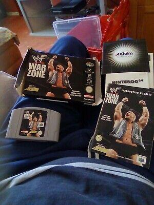 N64 Nintendo 64 Pal Boxed Game Cartridge Pak WWF Warzone