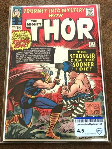 Journey into Mystery #114, CBCS (not CGC) Raw Grade 4.5 (VG+), Absorbing Man!!