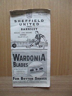 1951/2 Barnsley v Sheffield United - League Division 2 29th December