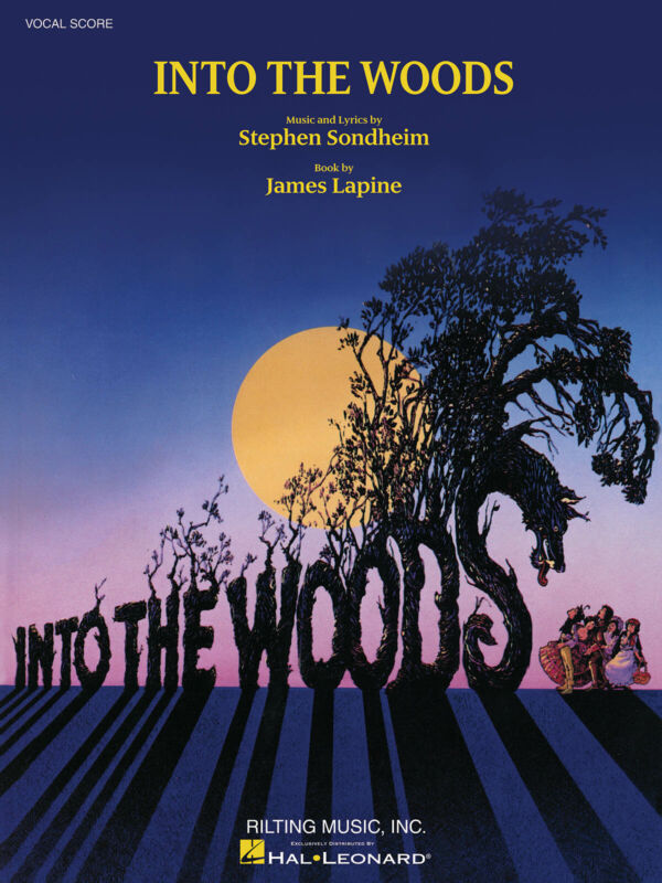Into the Woods Musical Vocal Score Piano Sheet Music Lyric Stephen Sondheim Book