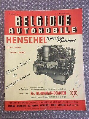 [11670-M40] Belgique Automobile 1961 Salon de Turin Regal Mark Mercedes Rootes