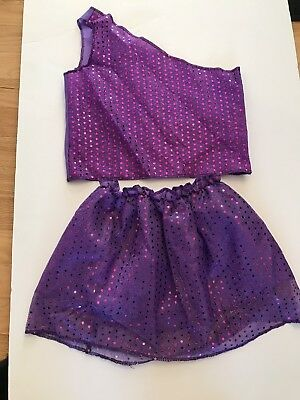 Dream Dazzlers Toys R Us Purple Sequin Two Piece Halloween Costume 3-6 - Halloween Costume Toys R Us