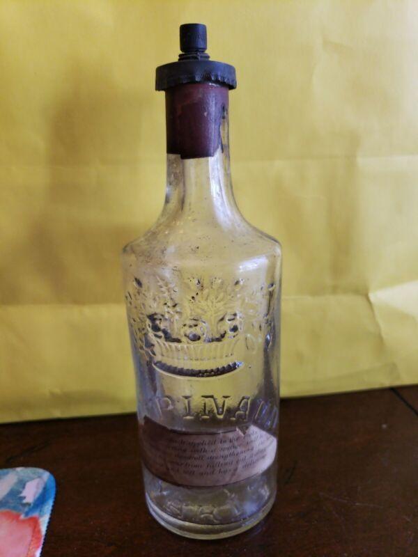 After Shave Bottle  Ed Pinaud Paris Vintage Bottle