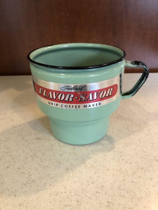 Vintage Federal Enameling & Stamping Co.~ Drip Coffee Maker ~Pittsburgh