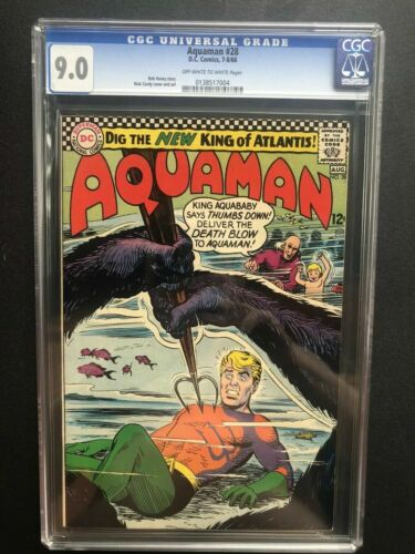 Aquaman #28 CGC 9.0; OW/W pages; Nick Cardy cover/art