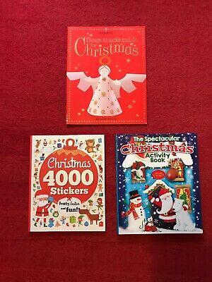 Art Craft Activity Book Bundle Christmas Holiday Usborne Games Childminder Schoo ()