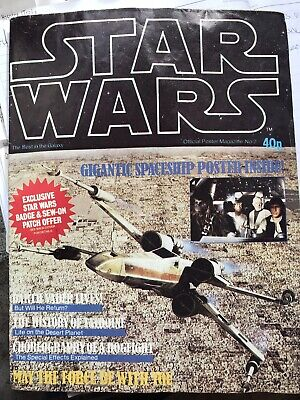 Star Wars A New Hope Poster Magazine Monthly No 2 Fold Out 1977 Info Original