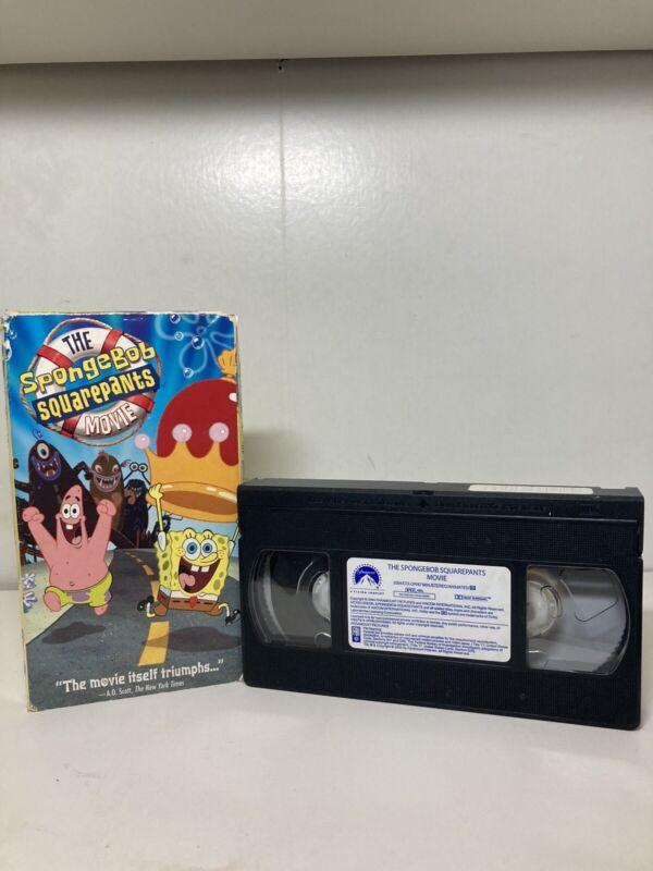 THE SPONGEBOB SQUAREPANTS MOVIE-VHS•Full Length RARE Late Release VHS 2004•