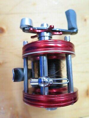 Vintage Red Abu Garcia Ambassadeur 5000 Fishing Reel 3 Screw Sweden  NICE