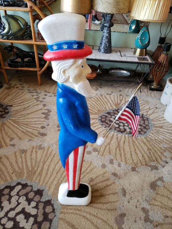 """1996 Uncle Sam Patriotic 4th of July Blow Mold Don Featherstone 35"""" Union Unlit"""