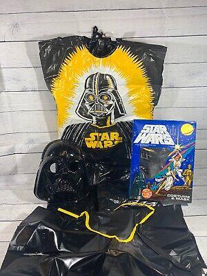 Darth Vader Original Costume (Ben Cooper VTG Star Wars Lord Darth Vader #740 Costume Mask Original Box L)