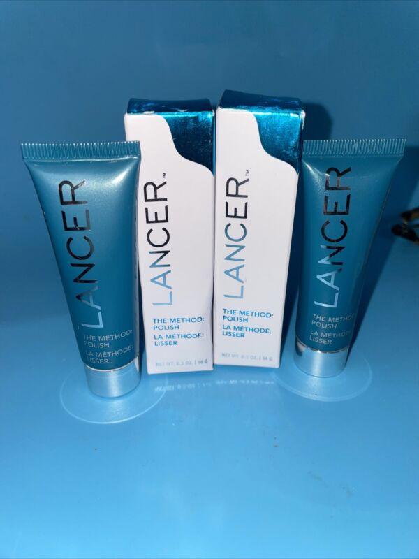 Lancer The Method Polish Treatment Cleanser Exfoliator 0.5oz each Get 2