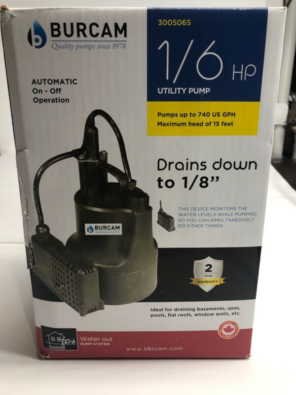 Burcam 300506S, 1/6 HP Utility Pump