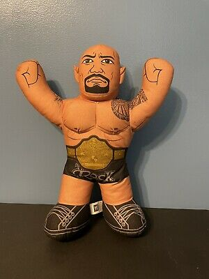 "WWE The Rock Plush Talking Wrestling Doll 2012 Brawlin Buddies 16"" Dwayne..."