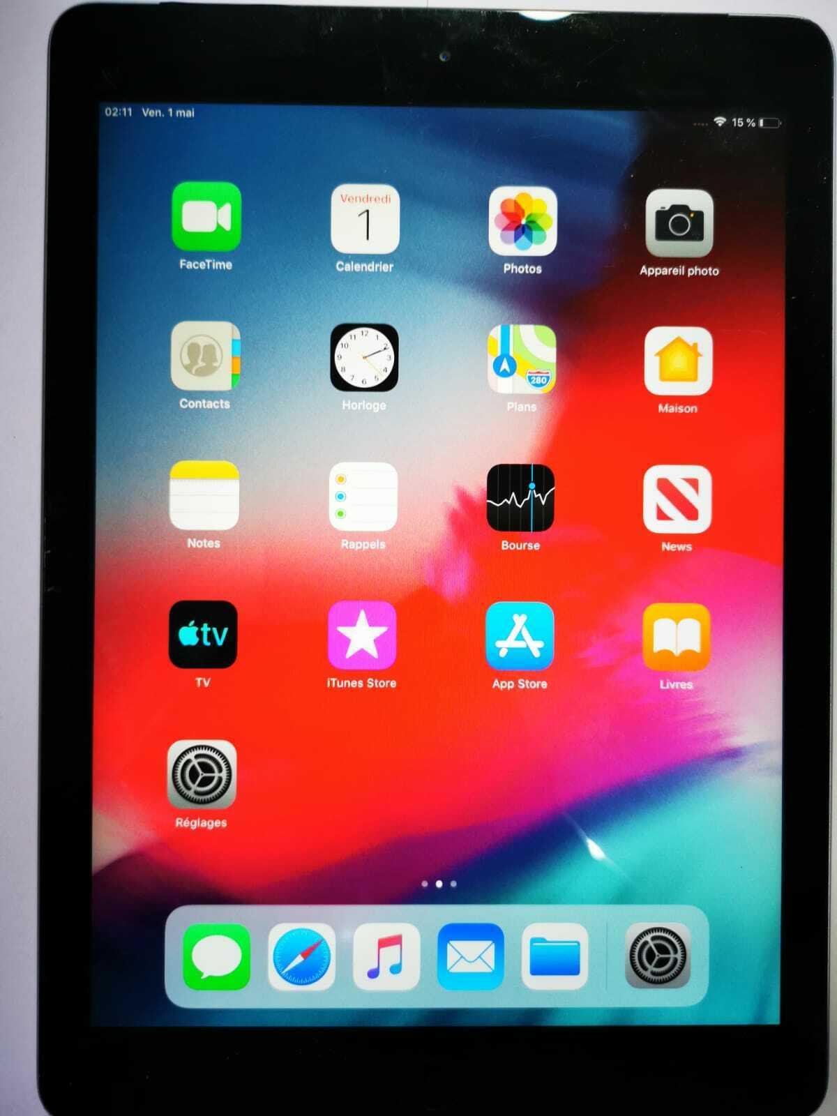 Apple ipad air 1ère génération 9,7'' 32 go wi-fi tablette - gris sidéral -nu2850