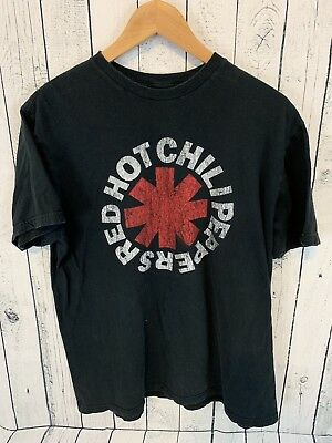 RED HOT CHILI PEPPERS LOGO T Shirt Bravado Black Size XL L1 (Red Hot Chili Peppers-logo)
