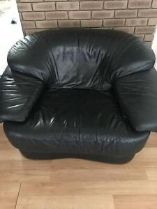 3 x Leather couches