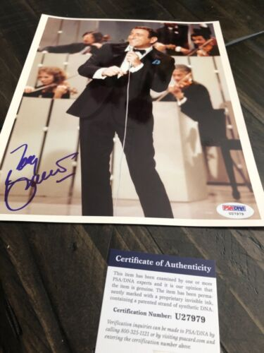 Autographed Tony Bennett 8x10 photo singing PSA certified signed