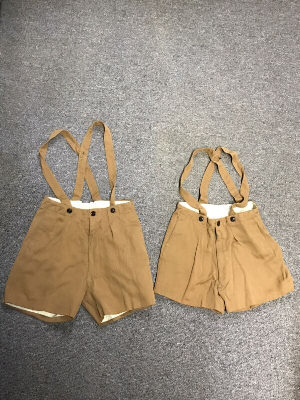 Vintage Shorts With Suspenders - TWO PAIR! Got Twins? Child Or Small Frame Kids
