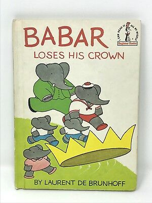 Babar Loses His Crown - Vintage 1967 Dr Seuss book club edition De Brunhoff  a - De Seuss