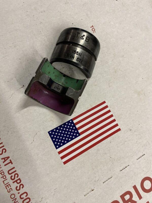 Thomas & Betts 15511 Purple/Olive 54H U Die Set Crimping Crimp/er 4/0 CU 2/0 AL