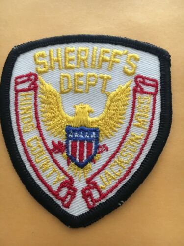 Vintage HINDS COUNTY, MISSISSIPPI SHERIFF (POLICE) SHOULDER PATCH MS