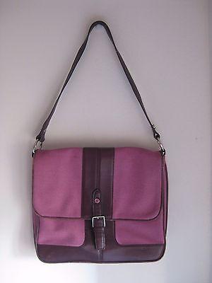 Fold-over Satchel (DKNY – DONNA KARAN: Pink Fold-Over Canvas Bag / Satchel)