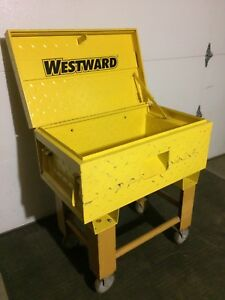 Westward Tool Box with Rolling Stand