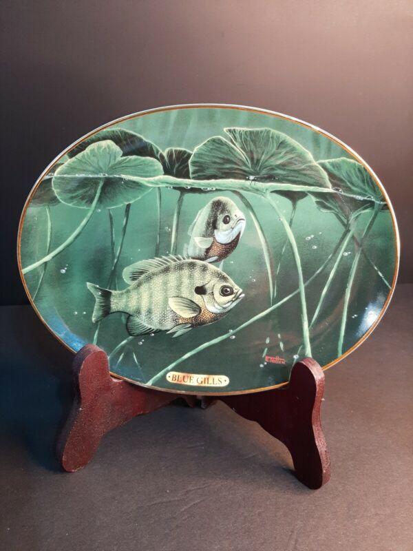 1994 Bradford Exchange Collector Plate Bluegills By Edward Totten fish