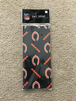 Chicago Bears Gift Wrap NFL Wrapping Paper 12.5 Square Feet 1985 Super Bowl - Nfl Wrapping Paper