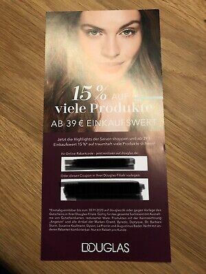 15 % Rabatt Gutschein für Douglas - gültig bis 30.11.2020