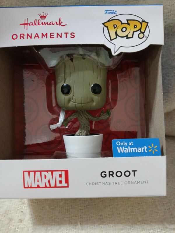 Hallmark Ornaments Walmart Funko Pop! Marvel Groot 2021 New