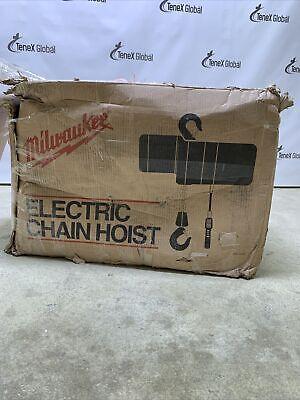 Milwaukee Professional Electric Chain Hoist 1-ton Capacity 15 Lift 9567 Y-10