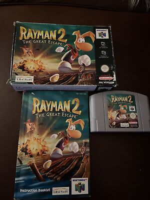 N64 PAL Version Rayman 2 The Great Escape Boxed With Instructions.