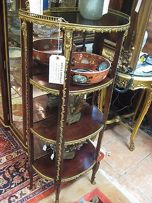 Beautiful Three Tier Etagere, Louis XVI Style Three Tier Etagere
