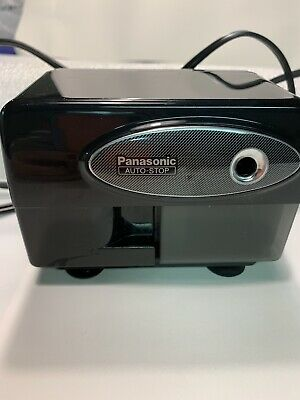 Panasonic Electric Pencil Sharpener Automatic With Auto Stop Black Model Kp-310