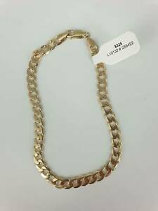 9CT YELLOW GOLD CURB LINK BRACELET #233492 Lawnton Pine Rivers Area Preview