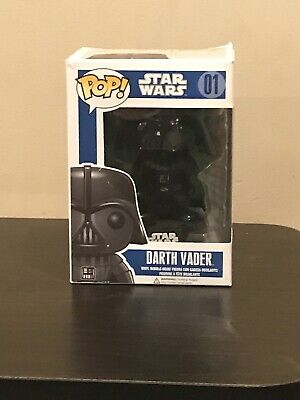 POP STAR WARS DARTH VADER #1 VINYL BOBBLE HEAD 4 INCH FIGURE FUNKO (OPENED)