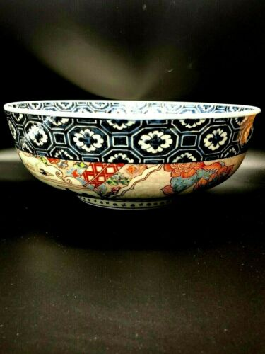 Antique Japanese Imari  Porcelain Large Punch Bowl
