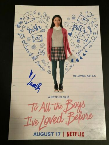 LANA CONDOR SIGNED TO ALL THE BOYS I'VE LOVED BEFORE PHOTO 12X18 AUTOGRAPH
