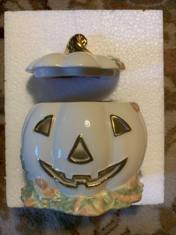 LENOX OCCASIONS Jack O Lantern Halloween Fall Holiday Votive Candle Holder