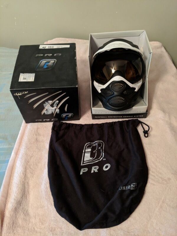 Dye I3 pro paintball mask goggles white/Black - New w/o Tags