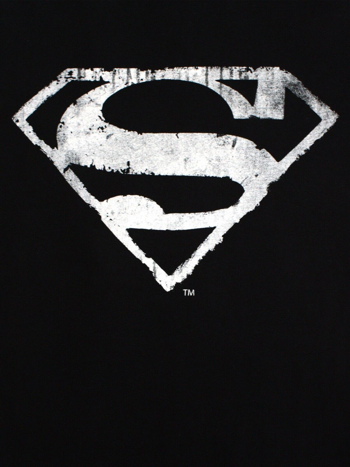 Superman Logo Mono Distressed Man Of Steel Classic Dc Comics Black