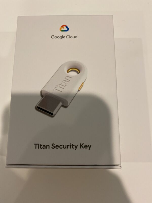 Google Titan Security Key - USB-C.  New.